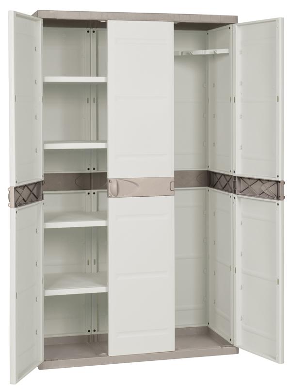 Armario despensa resina 3 puertas 105x44x176cm Profer Home menaje