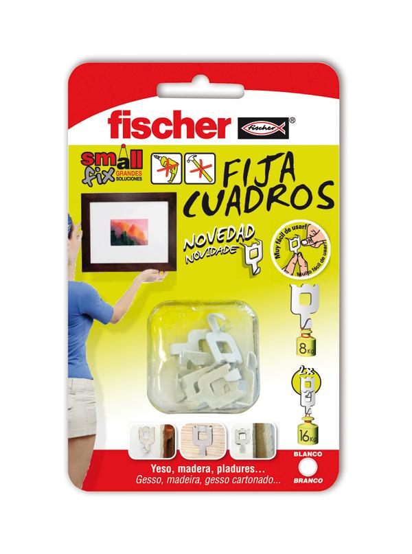 Colgador pared cuelga fácil sin clavos 8Kg. 8u. 522206 Fischer ...