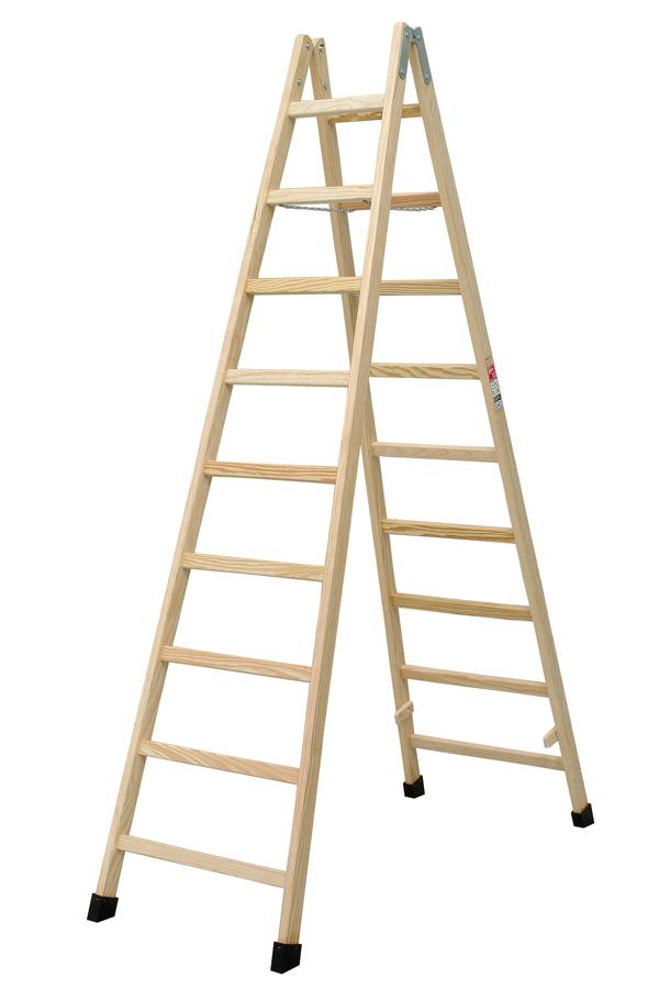 escalera tijera madera peldaos te villar