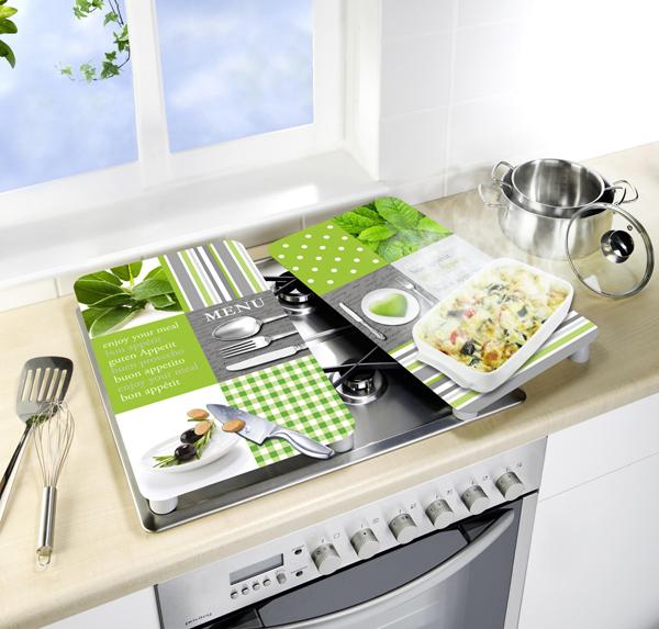Tablas vidrio cocina 2en1 proteger cortar Menu 30x52cm Wenko ...