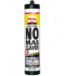 Adhesivo No mas clavos invisible cartucho 310ml 1351957 Pattex