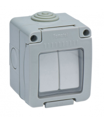 Interruptor doble estanco 10A IP-55 19044 Famatel