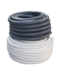 Tubo sanitario PVC flexible 32mm. Blanco 25m. 420204 Crearplast