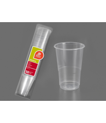 Vaso plástico irrompible 300cm3 50u. Best Products