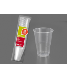 Vaso plástico irrompible 330cm3 50u. Best Products