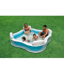 Piscina familiar asientos 229x229x66cm. 56475NP Intex