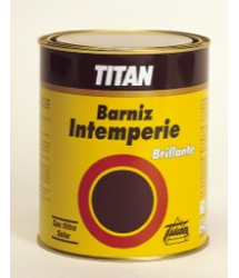 Barniz intemperie incoloro brillante 375ml. Titan