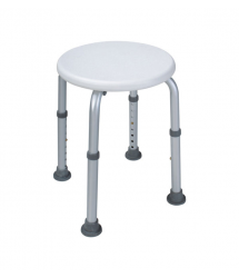 Asiento taburete ducha regulable Ponny Round 20001502 Interbath