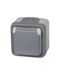 Base enchufe estanco gris 2P+T 191504 Legrand