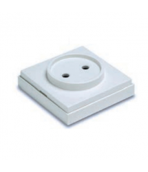 Base superficie sin TT 16A blanco 65x65mm 5024B Famatel