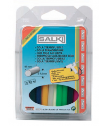 Cola termofusible colores 8x95 mm 120g. 0431088 Salki