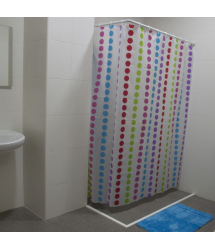 Cortina baño PEVA Circulos 180x180cm. PH0914 Profer Home