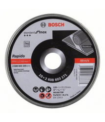 Disco corte recto inox 125x1mm 10u. 2608603255 Bosch