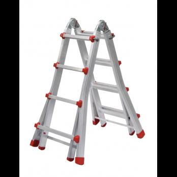 escalera articulada aluminio x peldaos pt profer top