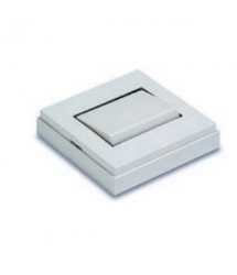 Interruptor superficie 10A 65x65mm blanco 5001 B Famatel