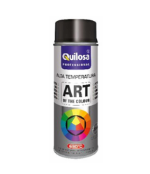 Pintura spray anticalorica negra 690ºC 400ml. Quilosa