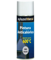 Pintura spray anticalórica gris plata 600º 400ml. Xylazel