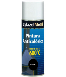 Pintura spray anticalórica negro 600º 400ml. Xylazel