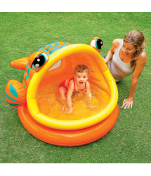 Piscina bebé Lazy Fish 124x109x71cm. 57109NP Intex