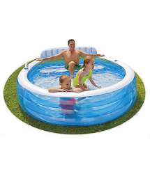 Piscina familiar asiento Family 223x215x76cm. 57190NP Intex