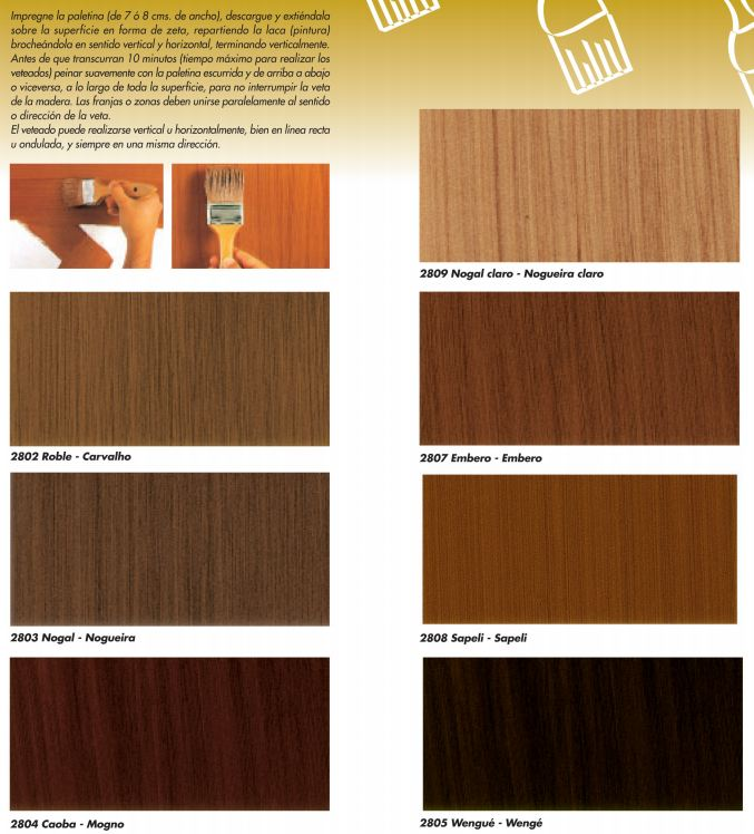 Colores de madera roble excellent noruega roble with for Color nogal claro
